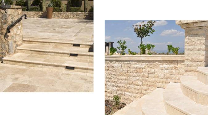 escaliers en pierre naturelle