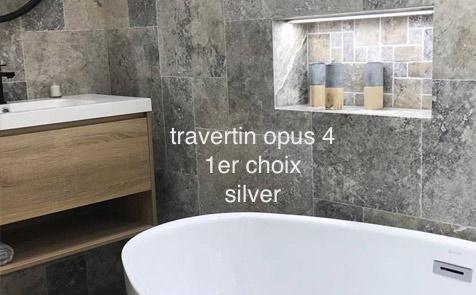 travertin silver salle de bain